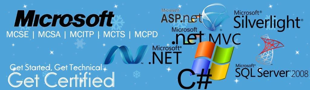 Microsoft Certification Courses Mcitp Mcse Mcsa Call 9980049104